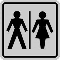 Indicatoare din aluminiu pentru wc