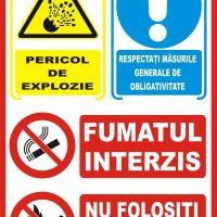 Indicator de securitate cu semne combinate Pericole