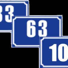 Indicator număr de casă model 1