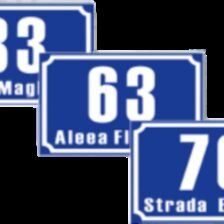 Indicator număr de casă model 2