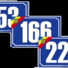 Indicator număr de casă model tricolor