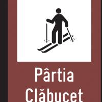 Indicator rutier de informare turistică T9 Partie schi