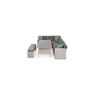 Canapea 3 locuri cu colt, pentru GRADINA 1