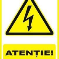 """Indicator de securitate de avertizare """"Atentie 24V"""""""