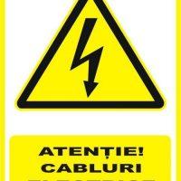 """Indicator de securitate de avertizare """"Atentie Cabluri electrice subterane"""""""