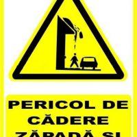 """Indicator de securitate de avertizare """"Pericol de cadere zapada si turturi"""""""