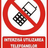 """Indicator de securitate de interzicere """"Interzisa utlizarea telefoanelor mobile"""""""