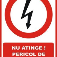 """Indicator de securitate de interzicere """"Nu atinge Pericol de electrocutare"""""""
