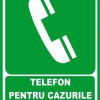 """Indicator de securitate de prim ajutor """"Telefon pentru cazurile de salvare"""""""