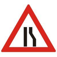 Indicator rutier avertizare Drum ingustat pe partea dreapta A10