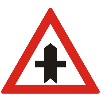 Indicator rutier avertizare Intersectie cu un drum fara prioritate A36