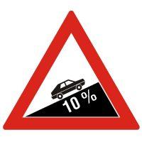 Indicator rutier avertizare Urcare cu inclinare mare A8