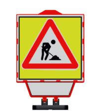 Baliza PVC pentru semnalizare lucrari Drum in lucru
