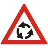 Indicator rutier avertizare Presemnalizare intersectiei cu sens giratoriu A40