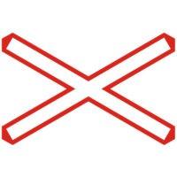 Indicator rutier avertizare Trecere la nivel cu o cale ferata simpla