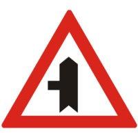 Indicator rutier avertizare A37 Intersectie cu un drum fara prioritate