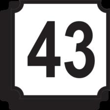 Indicator rutier de orientare și informare G70 Număr imobil