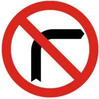 Indicator rutier interzicere sau restrictie Interzis a vira la dreptaC25