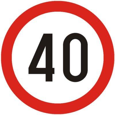 Indicator rutier interzicere sau restrictie Limitare de vitezaC29