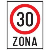 Indicator rutier interzicere sau restrictie C44 Zona cu viteza limitata la 30 km/h