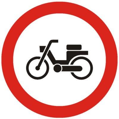 Indicator rutier interzicere sau restrictie Accesul interzis ciclomotoarelor/mopedelorC6