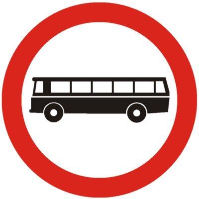 Indicator rutier interzicere sau restrictie Accesul interzis autobuzelorC9