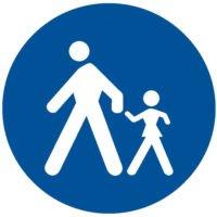 Indicator rutier obligare Drum pentru pietoni D 10