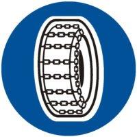 Indicator rutier obligare Lanturi pentru zapada D 15