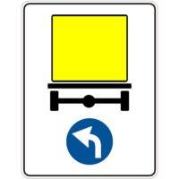 Indicator rutier obligare Directia obligatorie pentru vehiculele care transporta marfuri periculoase D 18
