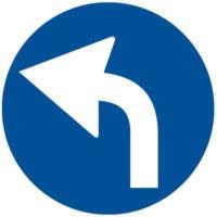 Indicator rutier obligare Obligatoriu la stanga D 3 (Copiază)