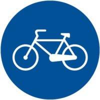 Indicator rutier obligare Pista pentru biciclete si ciclomotoare D 8