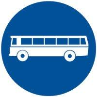 Indicator rutier obligare Drum obligatoriu pentru categoria de vehicule D 9